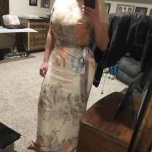 Adriana Papell floral dress